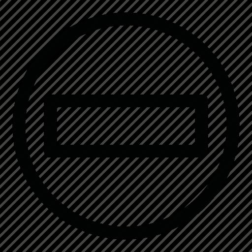 brick, closed, no, no way, passage, stop, symbols icon
