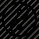 china, chinese, symbols, yang, ying, ying yang icon
