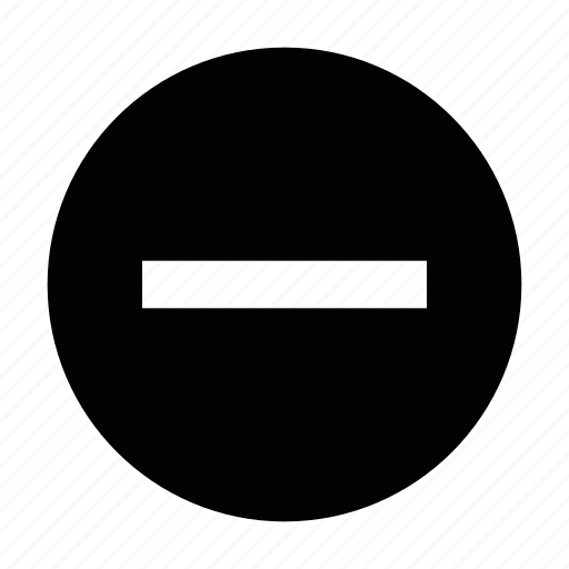 circle, count, delete, ecrement, minus, quantity, ui icon