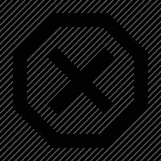 caution, cross, danger, delete, error, remove, ui icon