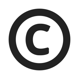 certificate, certification, copyright, license icon