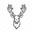 buck, deer head, male deer, deer, mounted buck, mounted deer, cervidae icon
