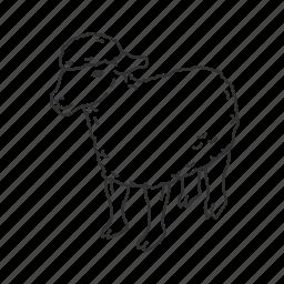baby lamb, lamb, medium land mammal, sheep, wool icon
