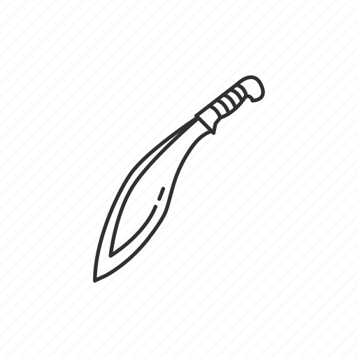 blade, eastern weapon, knife, kukri, machete, melee, weapons icon