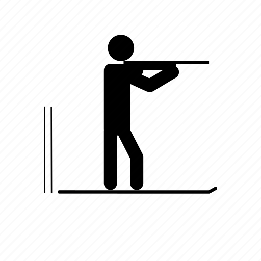 biathlon, shooter, shooting icon