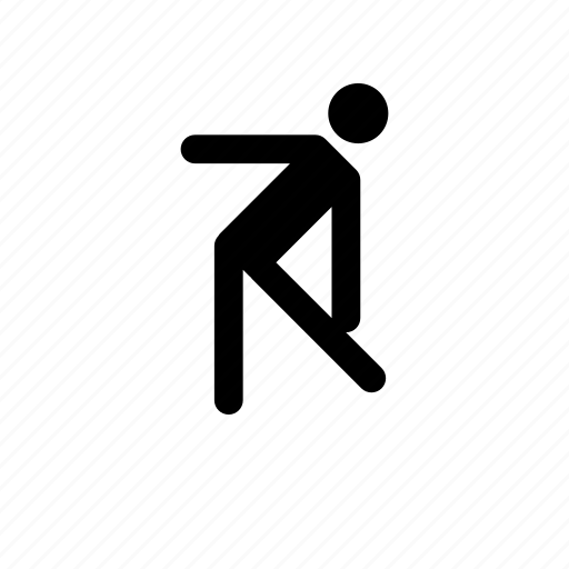 aerobic, fitness, stretcher, stretching icon