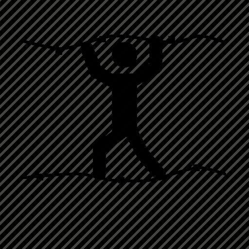 climber, climbing, via ferrata icon