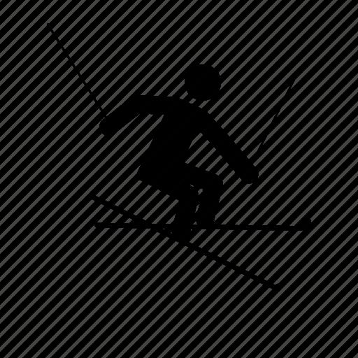 freerider, freeriding, skiing icon