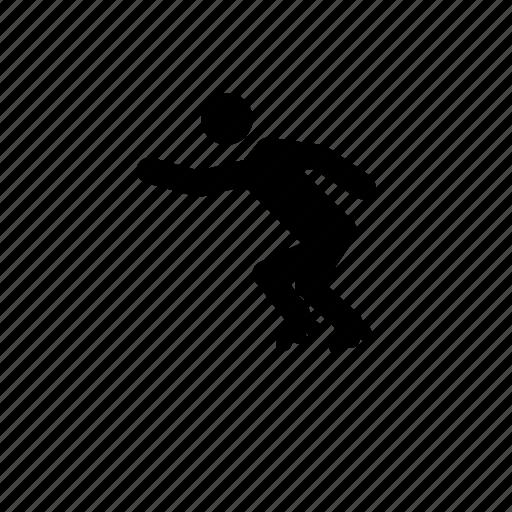 inline skater, inline skating icon