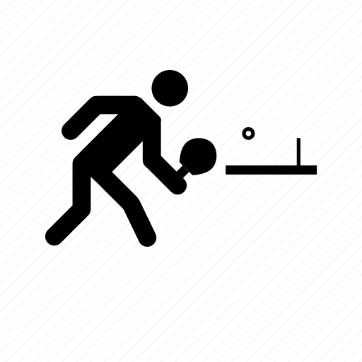 tabletennis, tabletennis player icon