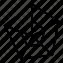 chart, pentagon icon