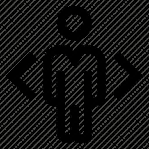 arrow, business, decision, direction, marketing icon