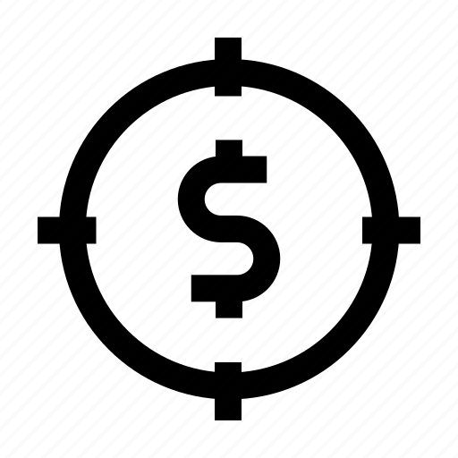 finance, goal, marketing, money, target icon