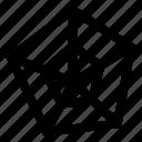 analysis, chart, graph, pentagon, statistics icon