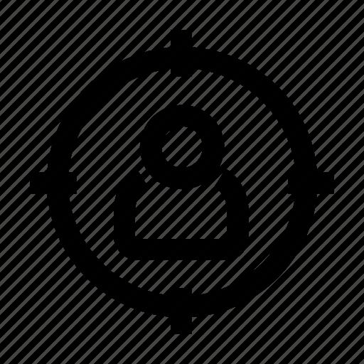 aim, business, marketing, target, user icon