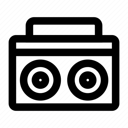 Boombox, music, radio, sound, speaker icon - Download on Iconfinder