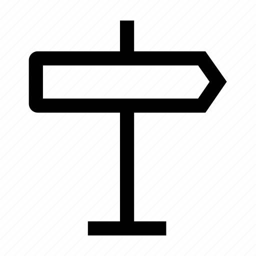 Arrow, direction, path, road, sign icon - Download on Iconfinder