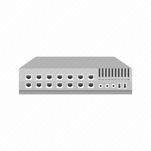 computer, ethernet, hub, internet, network, port, switch icon