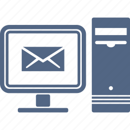 computer, email, inbox icon