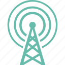 communication tower, radio, television icon
