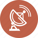 communication, data transmission, satellite dish icon