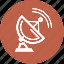 communication, data transmission, satellite dish icon
