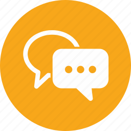 chat, customer support, speech bubbles icon