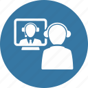 communication, job interview, teamwork, video call icon