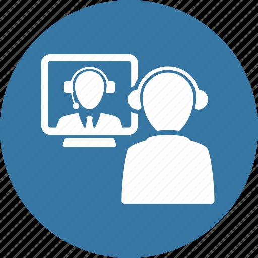 communication, job interview, teamwork, video call icon