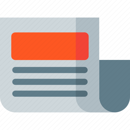 communication, interaction, media, news, newspaper, paper icon