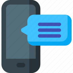 bubble, chat, communication, message, mobile, phone, talk icon