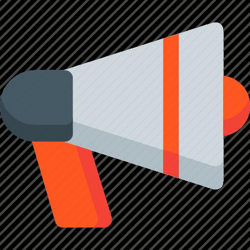 announcement, communication, loudspeaker, media, megaphone, sound, speaker icon