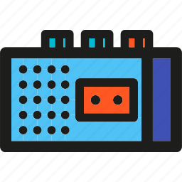 audio, media, multimedia, music, recorder, sound, tape icon