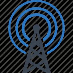 communication tower, radio, television icon