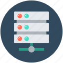 database, network server, server connection, server storage, web hosting icon