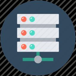database, network server, server connection, server storage, web hosting icon