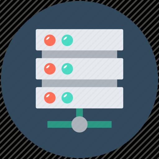 Database, network server, server connection, server storage, web hosting icon - Download on Iconfinder