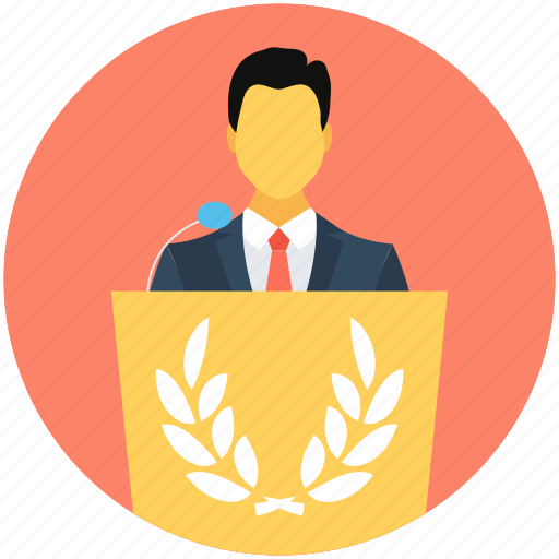 communication, conference, lecture, presentation, speech icon