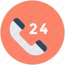 customer service, customer support, helpline, support line, twenty four hours icon
