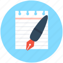 content writing, document, note, pen, writing icon