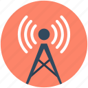 communication tower, signal tower, wifi antenna, wifi tower, wireless antenna icon