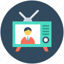broadcasting, retro tv, tv, tv set, vintage tv icon