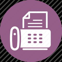 fax machine, phone icon
