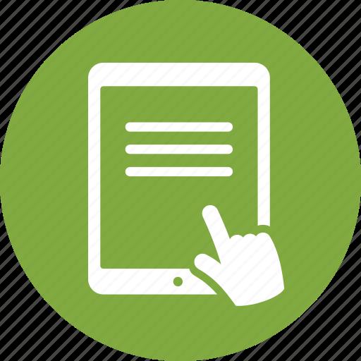 communication, ipad, reading, tablet icon