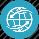 worldwide, globe, global communication icon