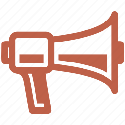 advertising, communication, marketing, megaphone icon