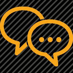 chat, discussion, speech bubbles, talk icon