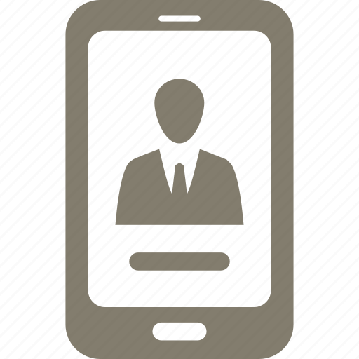 mobile, profile, smartphone icon