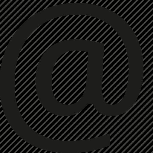 At, sign icon - Download on Iconfinder on Iconfinder