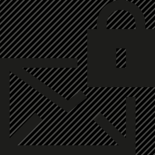 lock, mail icon